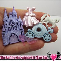 Jesse James Buttons 5pc HaPPILY EVER AFTER Buttons and Flatback Cabochon