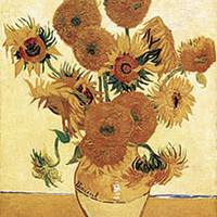 Vase With Sunflowers Poster by Van Gogh