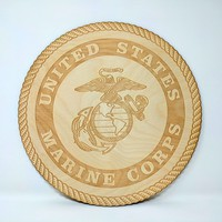 United States Marine Corps Emblem - Laser Cut and Engraved Sign
