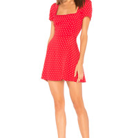 FLYNN SKYE Maiden Mini Dress in Cherry Dots