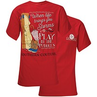 Southern Couture Play In Puddles Comfort Colors T-Shirt