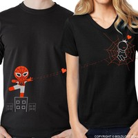 Captured by Your Love™ His & Hers Matching Couple Shirt Set Black