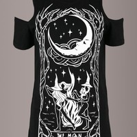 Boyfriend Fit Witches Chant Tarot Card Tee