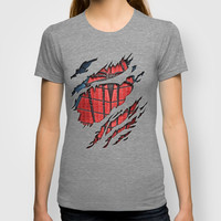 the avengers spiderman Peter parker torn unisex adult, kids and baby tee T-shirt by Three Second