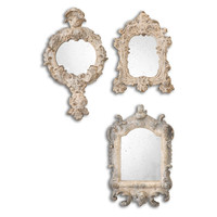 Rustic Artifacts Reflection Mirrors, S/3
