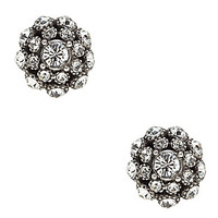 kate spade new york Putting on the Ritz Stud Earrings - Silver/Crystal