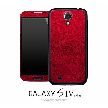 Red Leather Skin for the Galaxy S4