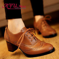 HOT Women's Lace Up Strappy Retro Quadrate Heel Casual Shoes Hollow Ankle Boots