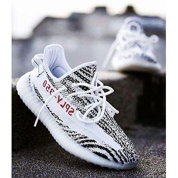 Adidas Yeezy 350 V2 Boost Trending Women Men Casual Sport Running Shoe Sneakers(9-Color) Grey White I