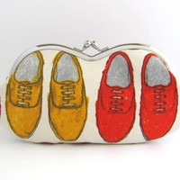 Sunglass/ Eyeglass Case- red shoes-snap case