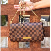 LV Tide brand women's chain bag Messenger bag Coffee check
