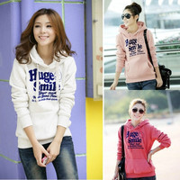 M-XXL Women Korean Hoodie Jacket Coat Sweatshirt Outerwear Hooded Sweater  D_L = 1713096836
