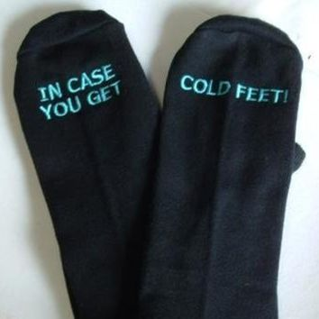 $30.00 Groom's Socks in case you get cold feet by SilkscreenExpress