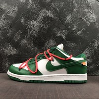 Off-White x Nike Dunk Low Leather Collection Pine Green - Best Deal Online