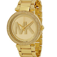 Michael Kors Women's Parker Watch with Gold-Tone Bracelet