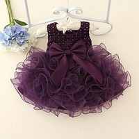 Hot sale 2018 Summer Girls Wedding Birthday Party Dresses one Girl Dress Princess Children Clothes For Kids Baby Clothing bebes