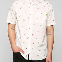 Stussy Birds Button-Down Shirt- White XL