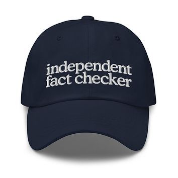 Independent Fact Checker Dad hat