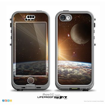 The Earth, Moon and Sun Space Scene Skin for the iPhone 5c nüüd LifeProof Case