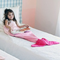 Mermaid Blankets Turquoise and Pink Teen Adult