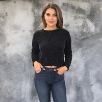 Soft To The Touch Sweater in Black