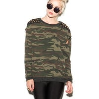 Studded Camo Pullover | FOREVER 21 - 2051403481