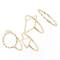 Junior Women's BP. Geometric Ring Set