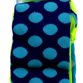 Krazisox Set of 4 Pairs of Socks Polka Dots Solid Knee High Womens Size 4-10