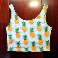 Causal Print Crop Top