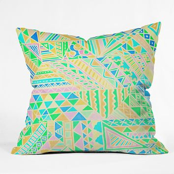 Lisa Argyropoulos Wild One Two Outdoor Throw Pillow