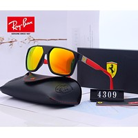 RayBan Ray-Ban x Ferrari Fashion Men Women Personality Summer Sun Shades Eyeglasses Glasses Sunglasses 4#