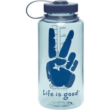 Peace Sign Water Bottle Life is good