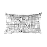 Baltimore Map Throw Pillow
