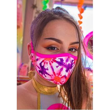 Kaleidoscope Tailored Rave Mask With Filter - J Valentine FF554