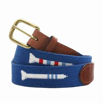 Golf Tees Needlepoint Belt by Smathers & Branson