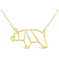 Bear Origami Necklace for Animal Lovers