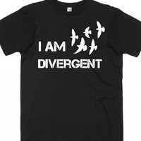 I am divergent with birds-Unisex Black T-Shirt