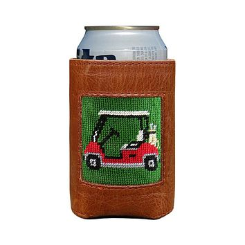 Golf Cart Needlepoint Can Cooler by Smathers & Branson