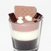 Scented Smores Parfait Candle