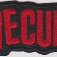 The Cure Iron-On Patch Red Letters Logo