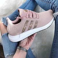 Adidas TUBULAR Coconut Sequins Female sports shoes