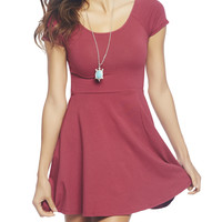 Cross Back Skater Dress | Wet Seal