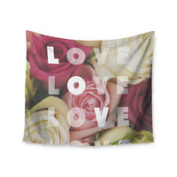 """Libertad Leal """"Love Love Love"""" Roses Wall Tapestry"""