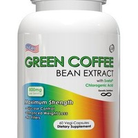 Green Coffee Bean Extract With Svetol - 800mg Per Serving, 60 Vegetarian Capsules, No Fillers, 50% Chlorogenic Acids, 1 Month Supply (Contains Svetol) | deviazon.com