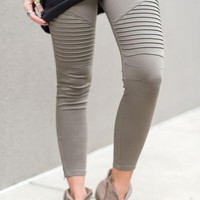 City Slicker Moto Jeggings - Olive