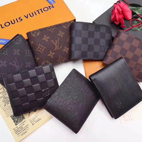 Image of LV Louis Vuitton Hot Selling Classic Men's and Women's Full Letter Flip Clutch Square Wallet Bag