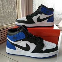 Nike Air Jordan I Unisex Casual Fashion Multicolor High Help Breathable Plate Shoes Couple Basketball Shoes Sneakers-1
