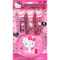 Hello Kitty Lip Balm Gift Set, 4 pc