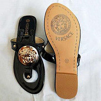 Versace Summer Popular Women Casual Flat Sandal Slippers Shoes