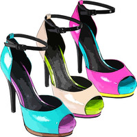 3 pairs womens high heel shoes clip art digital download image beauty fashion accessories art graphics pink blue